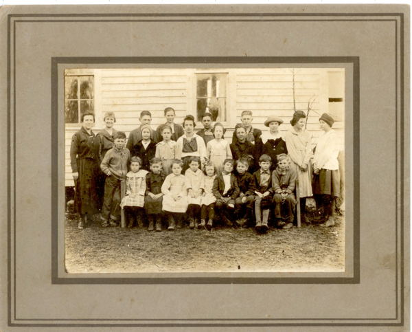 One Room School House Class at Smyrna School